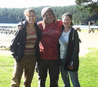 Sarah, Alan, Susan on Orcas Island