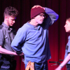 l-r Frankie Linderman, Bruce Jennings, Lindsay Reed in 'Homeless (the musical)'