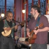 Alan and (special guest) Hershel Yatovitz play their little axes off at Star E Rose, 3-26-08
