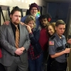 The amazing cast of 'Homeless (the musical)' backstage at Clinton Street Theater (Jan 2017) i-r Kyle Urban, Barbara Passolt, Bruce Jennings, Myles Lawrence, Sami Yacob-Andrus, Lindsay Reed