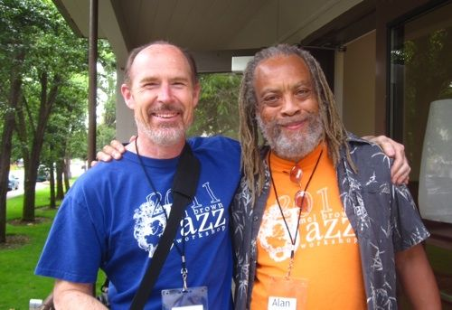 Tim Gilson and Alan at Mel Brown Jazz Camp